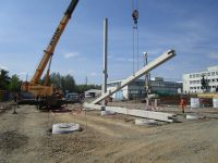 Pile foundation and building of precast production hall - Phoenix Trmice (2015)